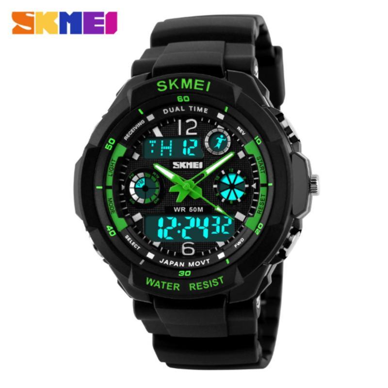 Nơi bán Đồng hồ đeo tay thể thao Skmei 0931 đồng hồ đeo tay chống thấm nước (GREEN)