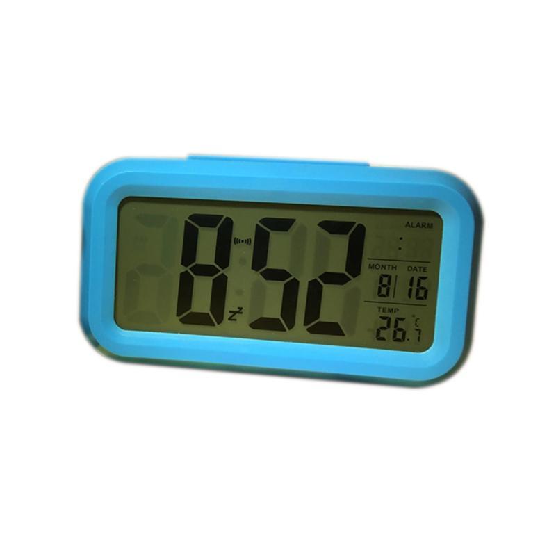 Nơi bán Đồng hồ điện tử báo thức cảm biến ánh sáng 1019- xanh lam