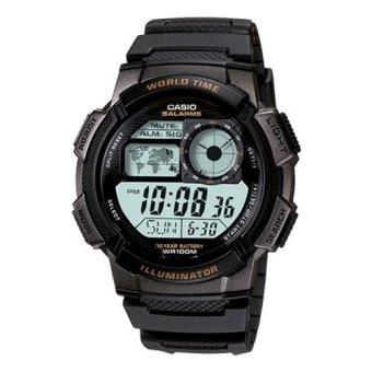 Đồng hồ điện tử nam dây nhựa Casio AE-1000W-1AVDF (Đen)