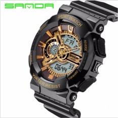 Đồng hồ điện tử nam kiểu thể thao siêu bền chống nước Sport Watch F94 (Đen – vàng)