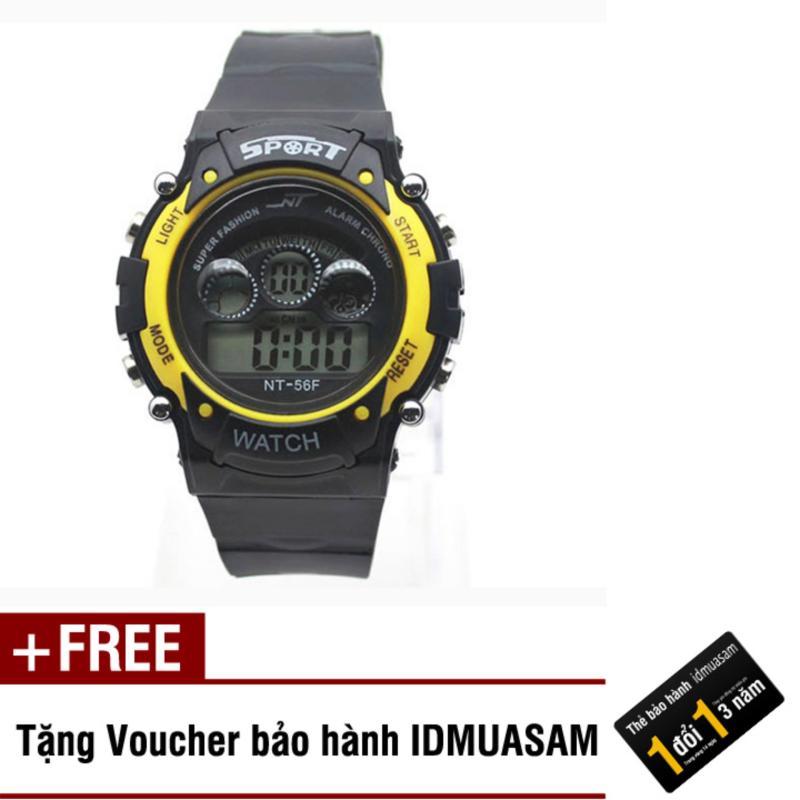 Nơi bán Đồng hồ điện tử trẻ em IDMUASAM 7463 (Vàng) + Tặng kèm voucher bảo hành IDMUASAM