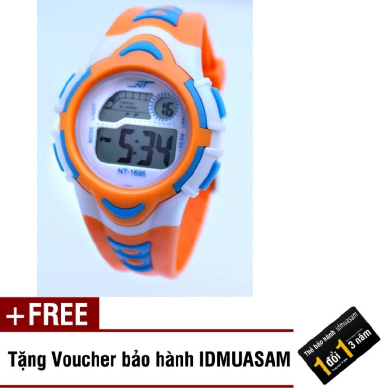 Đồng hồ điện tử trẻ em IDMUASAM 7891 (Cam) + Tặng kèm voucher bảo hành IDMUASAM bán chạy