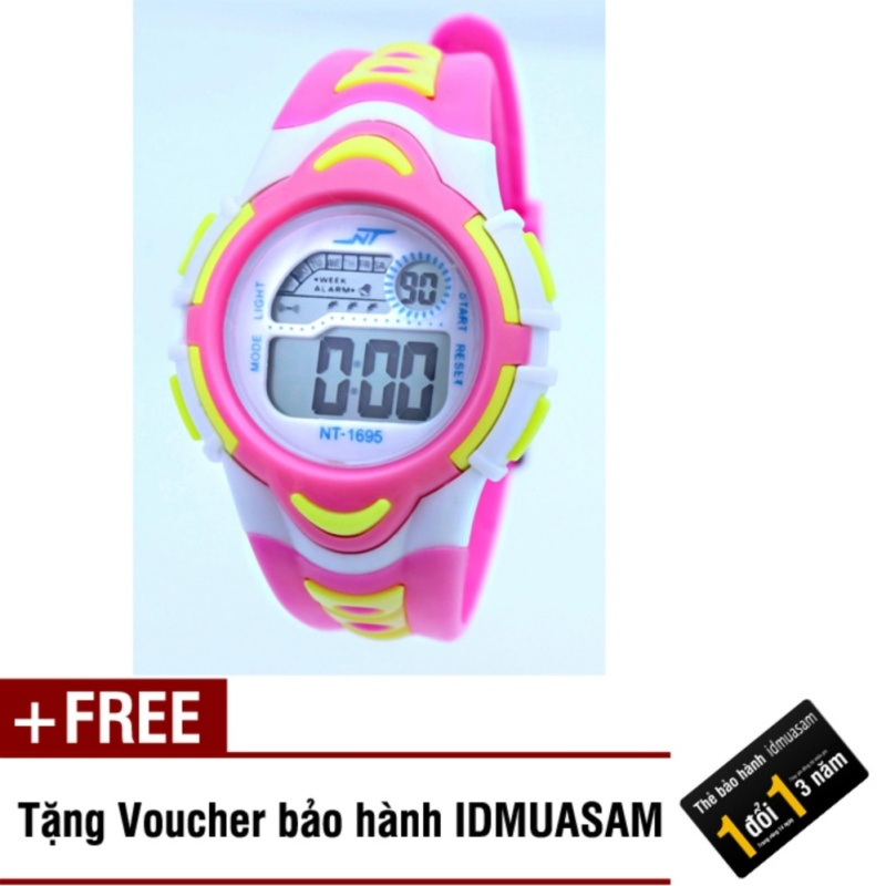 Đồng hồ điện tử trẻ em IDMUASAM 7893 (Hồng) + Tặng kèm voucher bảo hành IDMUASAM bán chạy