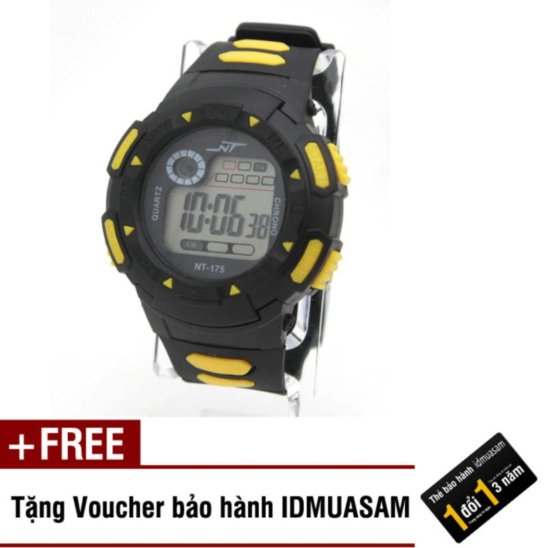 Nơi bán Đồng hồ điện tử trẻ em IDMUASAM 7902 (Vàng) + Kèm voucher bảo hành