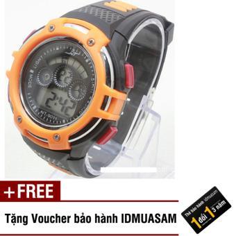 Đồng hồ điện tử trẻ em IDMUASAM 7921 (Cam) + Tặng kèm voucher bảo hành...