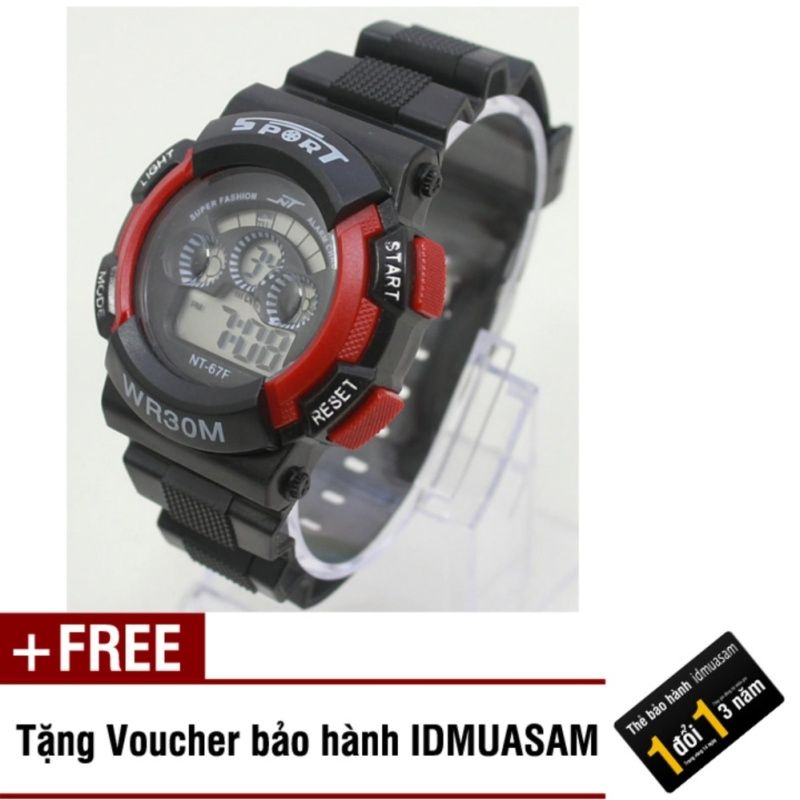 Nơi bán Đồng hồ điện tử trẻ em IDMUASAM 7954 (Đỏ) + Tặng kèm voucher bảo hành IDMUASAM