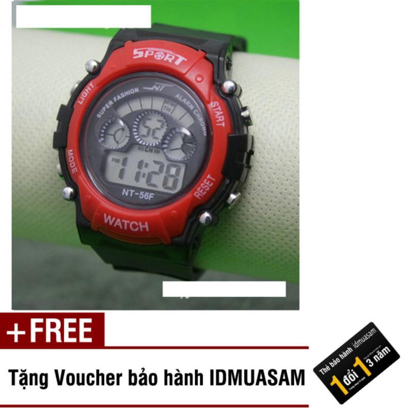 Nơi bán Đồng hồ điện tử trẻ em IDMUASAM 7974 (Đỏ) + Tặng kèm voucher bảo hành IDMUASAM