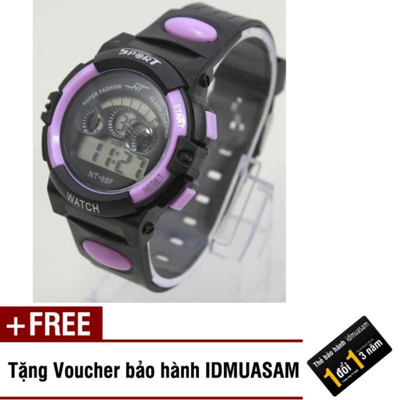 Đồng hồ điện tử trẻ em IDMUASAM 7991 (Tím) + Tặng kèm voucher bảo hành IDMUASAM bán chạy
