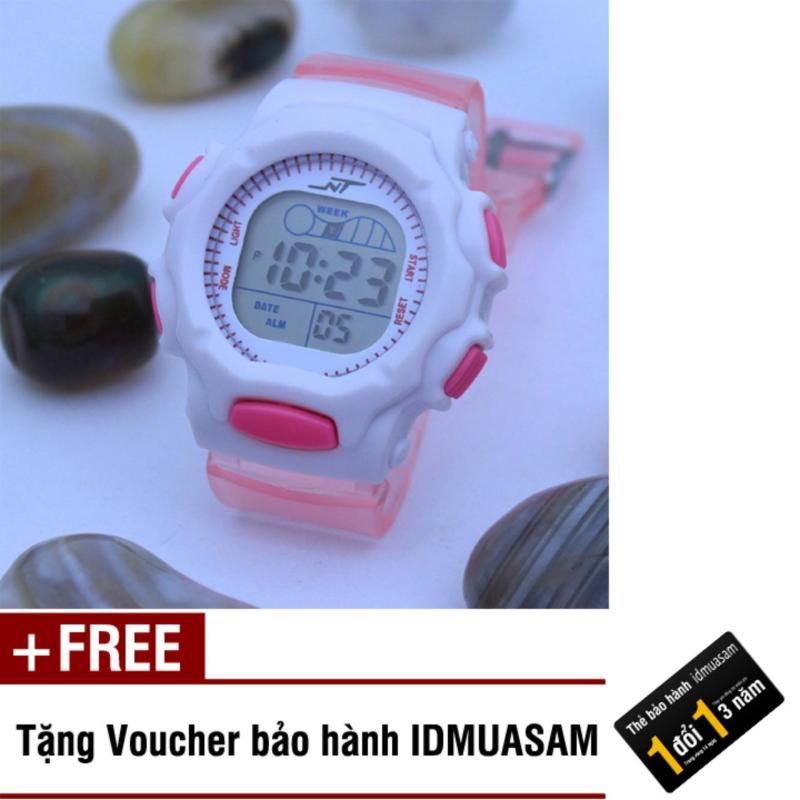 Đồng hồ điện tử trẻ em IDMUASAM S0821 (Hồng nhạt) + Tặng kèm voucher bảo hành IDMUASAM bán chạy