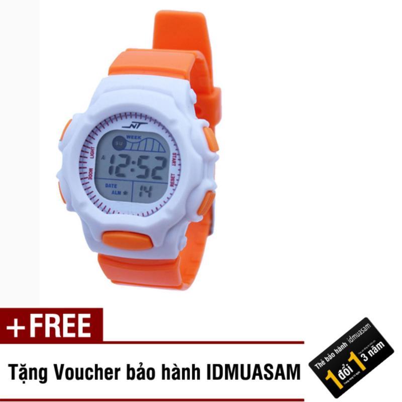 Đồng hồ điện tử trẻ em IDMUASAM S0823 (Cam) + Tặng kèm voucher bảo hành IDMUASAM bán chạy