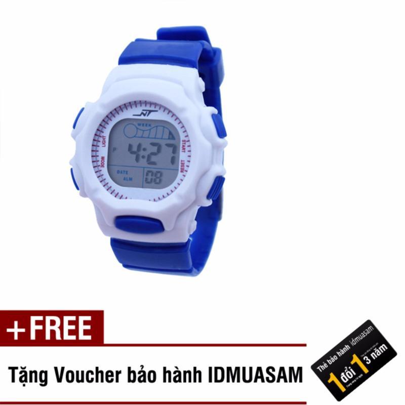 Đồng hồ điện tử trẻ em IDMUASAM S0825 (Xanh dương) + Tặng kèm voucher bảo hành IDMUASAM bán chạy