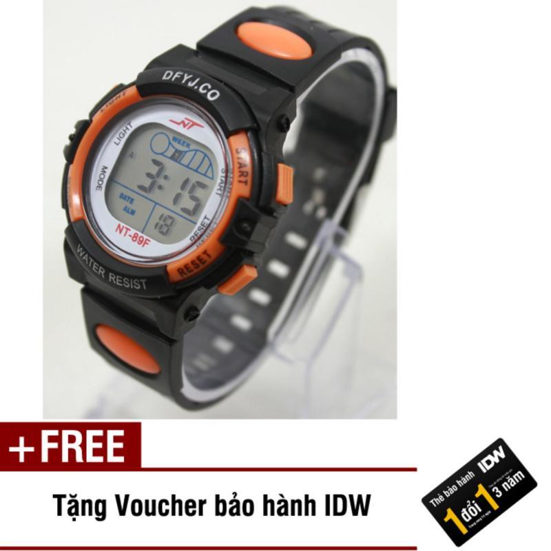 Đồng hồ điện tử trẻ em IDW 2444 (Cam) + Tặng kèm voucher bảo hành IDW bán chạy