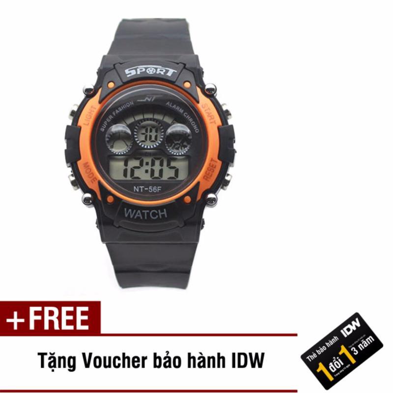 Đồng hồ điện tử trẻ em IDW 7464 (Cam) + Tặng kèm voucher bảo hành IDW bán chạy