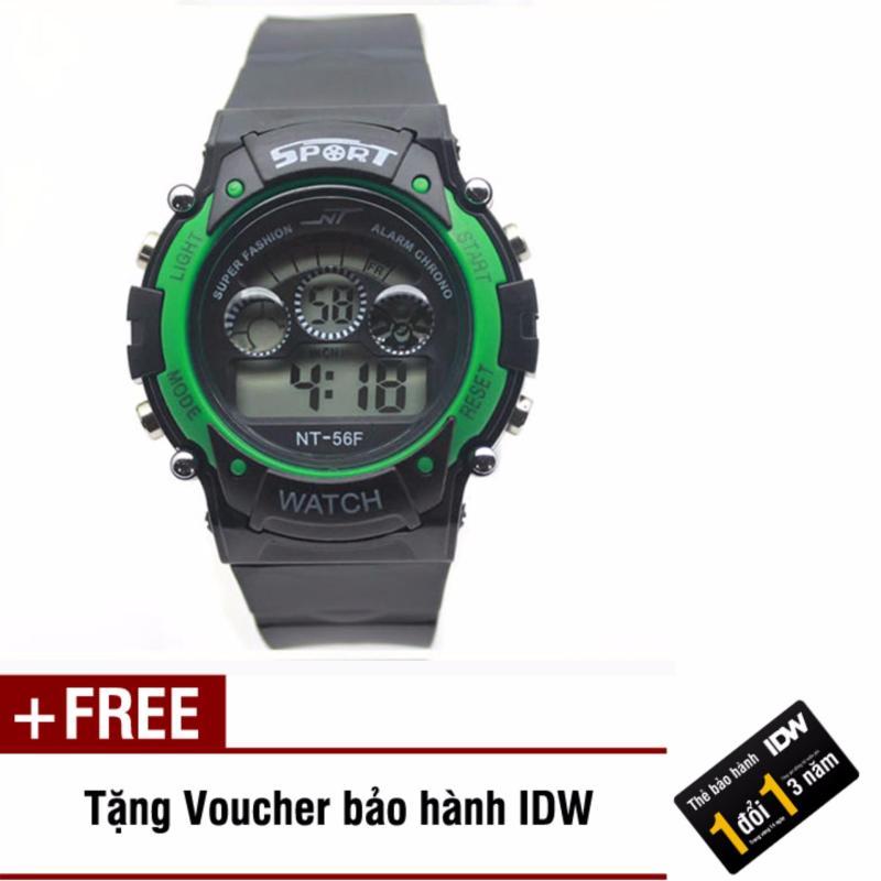 Đồng hồ điện tử trẻ em IDW 7465 (Xanh lá) + Tặng kèm voucher bảo hành IDW bán chạy
