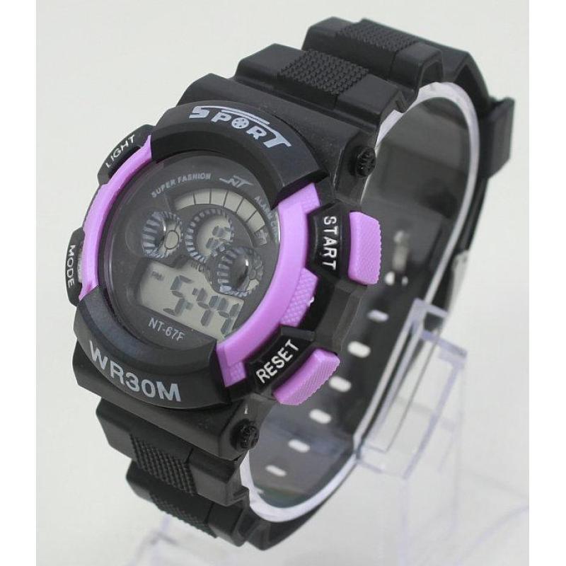 Đồng hồ điện tử trẻ em IDW 7954 (Tím) bán chạy