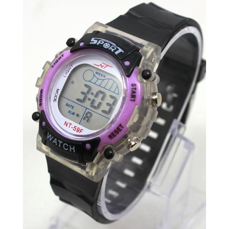 Đồng hồ điện tử trẻ em IDW 7985 (Tím) bán chạy