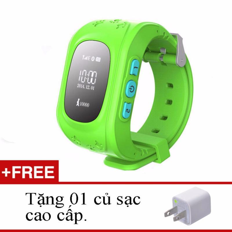 Đồng hồ định vị gps smartwatch DRC Q50(Xanh lá)+ củ sạc cao cấp bán chạy