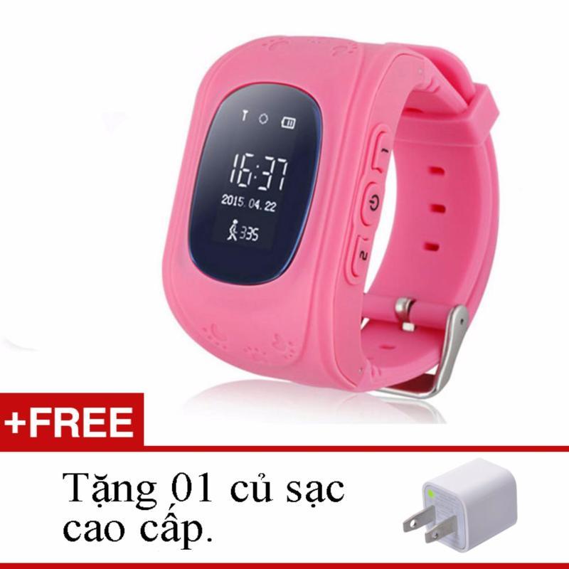 Đồng hồ định vị nghe gọi điện thoại Q50 (Hồng) + tặng sạc bán chạy