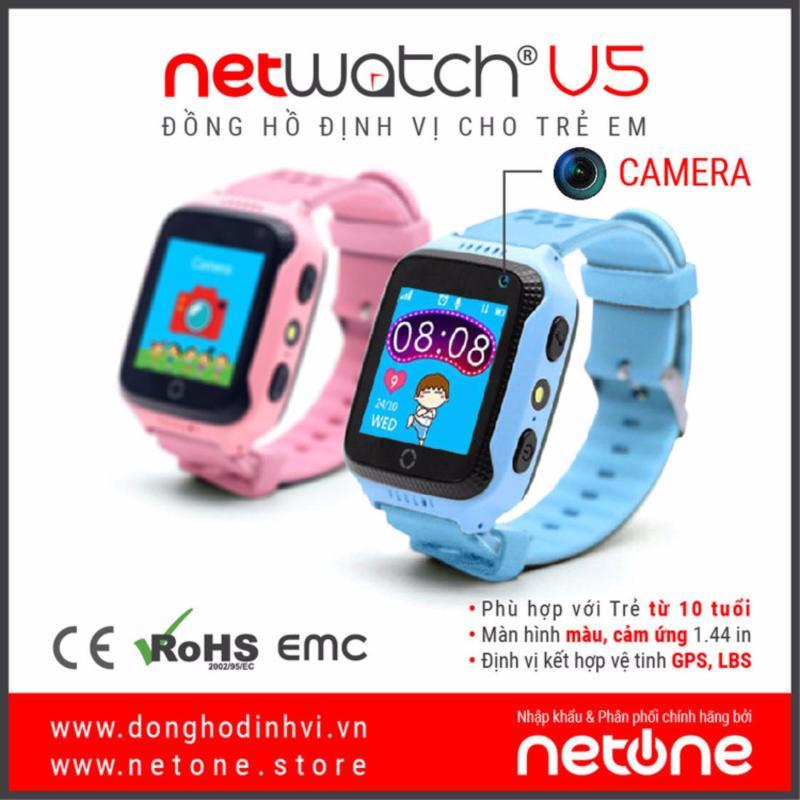 Đồng hồ định vị trẻ em GPS đa chức năng NetWatch® V5-B-G006 (Xanh) bán chạy