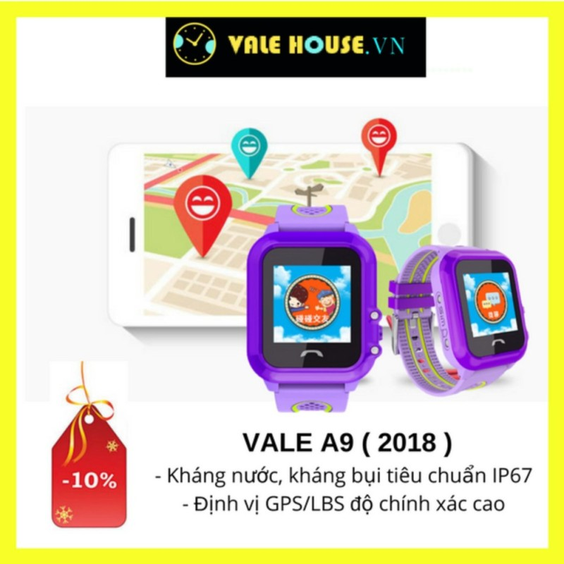 Nơi bán Đồng hồ định vị trẻ em VALE A9 BẰNG LĂNG TÍM 3784