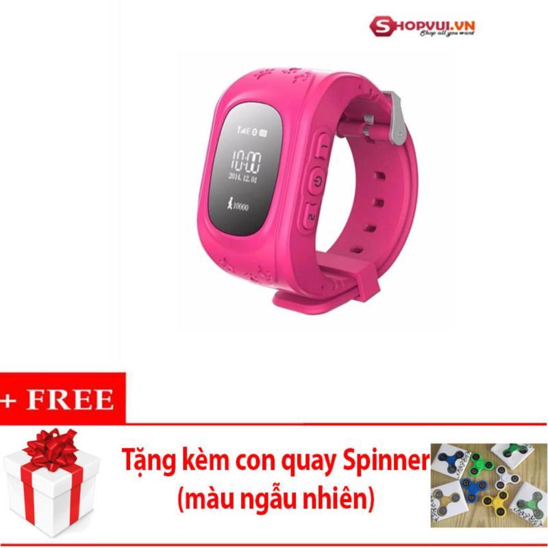 Đồng hồ định vị và giám sát trẻ em thông minh (Hồng) + Tặng con quay (màu ngẫu nhiên) bán chạy