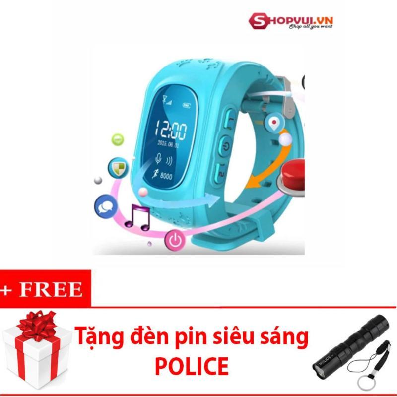 Đồng hồ định vị và giám sát trẻ em thông minh SMARTWATCH (Xanh Dương) + tặng đèn pin 3W bán chạy