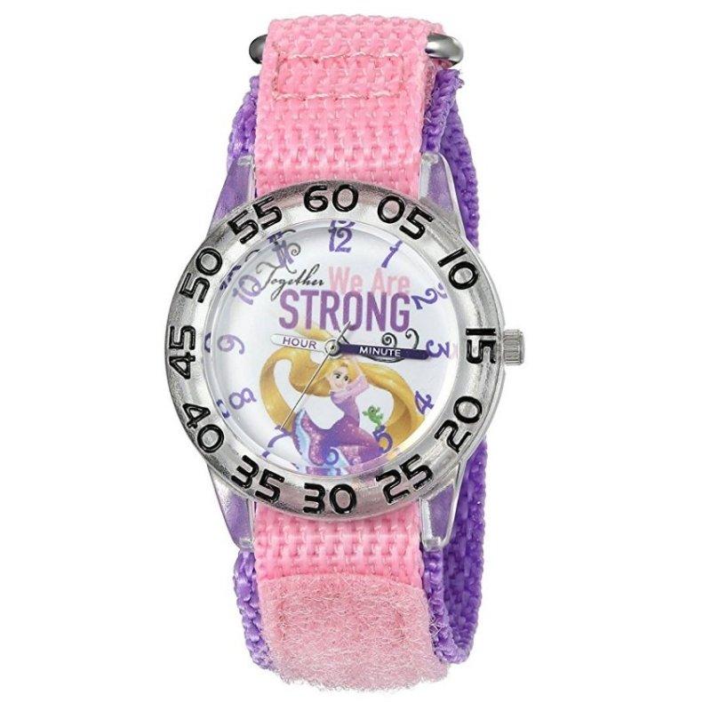 Đồng Hồ Kháng Nước Bé Gái Disney Girl's Rapunzel Quartz Plastic And Nylon Automatic Watch (Mỹ) bán chạy
