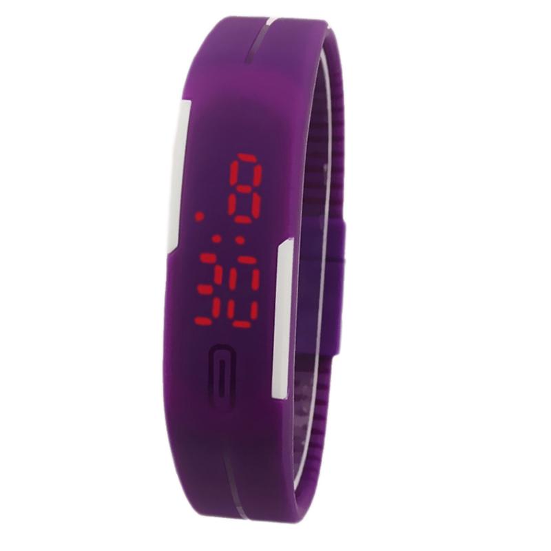 Nơi bán Đồng hồ LED dây nhựa kiêm vòng tay thời trang (Đen)