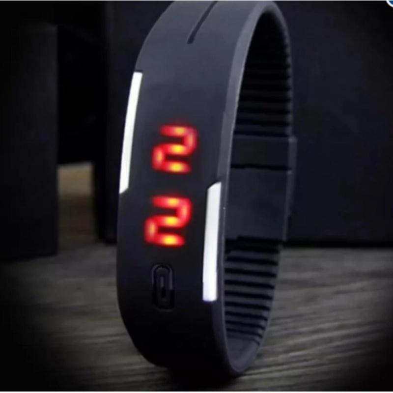 Nơi bán Đồng hồ LED dây nhựa thời trang nam nữ (Đen)
