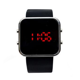 Đồng hồ Led dây Silicon 18970-15LED (Đen)