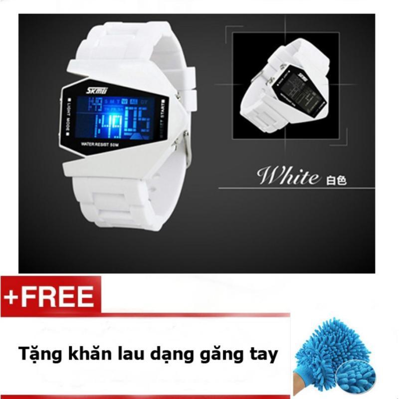 Đồng hồ LED SKMEI trẻ em SK073m màu trắng bán chạy