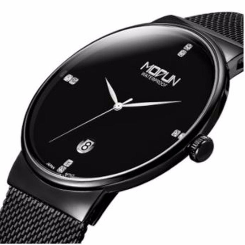 Nơi bán Đồng hồ MODUN máy Nhật cao cấp, dây thép không gỉ 6388 (đen)