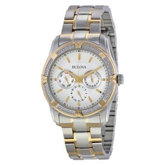 Đồng hồ nam Bulova 98E112 dây thép không gỉ (Bạc phối vàng)