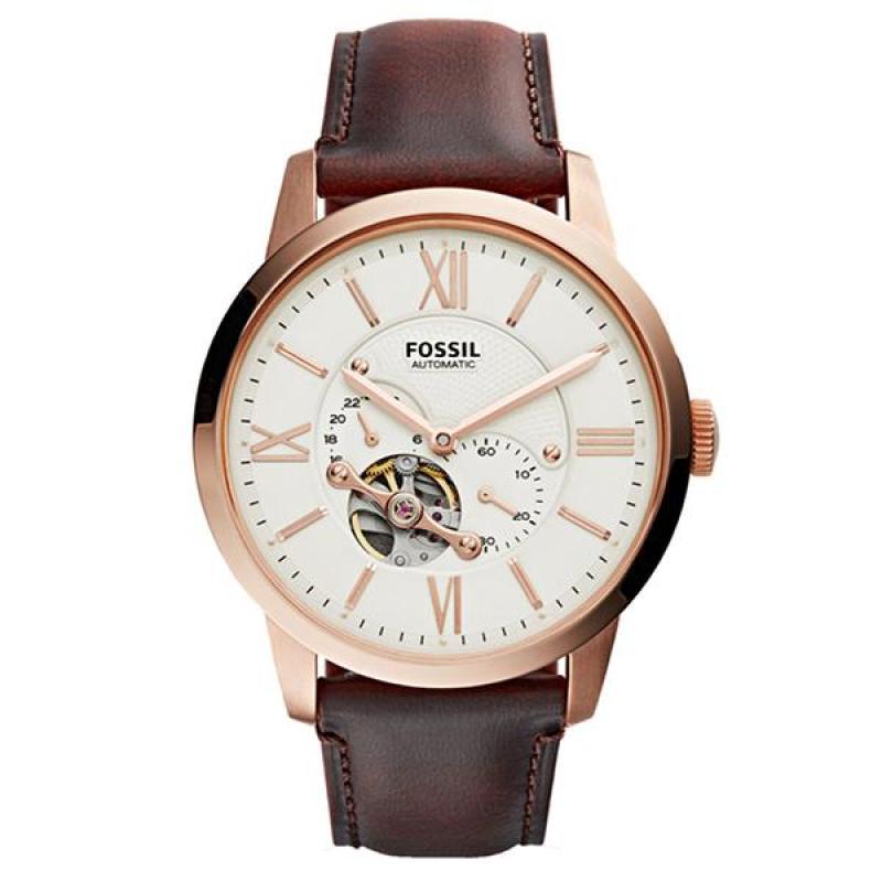 Nơi bán Đồng hồ nam cao cấp dây da Fossil ME3105 (Trắng) - Phân phối chính hãng