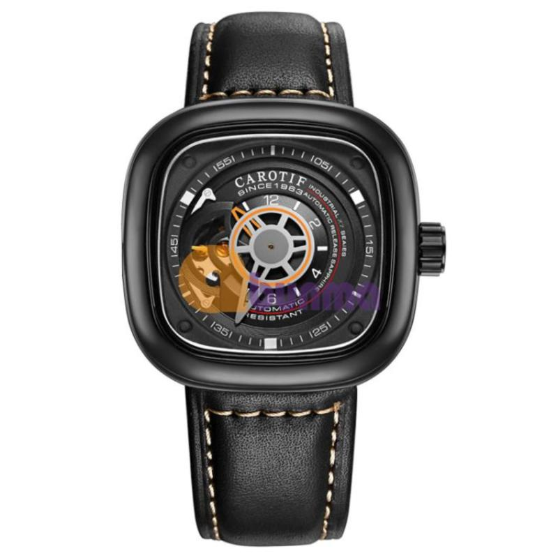 Nơi bán Đồng hồ Nam Carotif (Style SevenFriday) F-1003 - Mặt đen, viền đen, dây đen