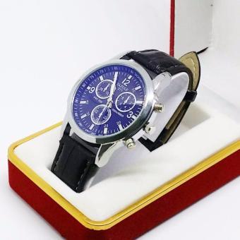 Đồng hồ nam dây da business YZL271 thép không gỉ chống nước 3ATM