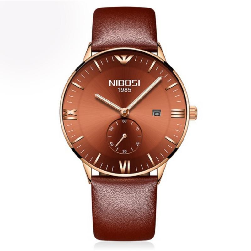 Nơi bán Đồng hồ nam dây da cao cấp Nibosi (fullbox)