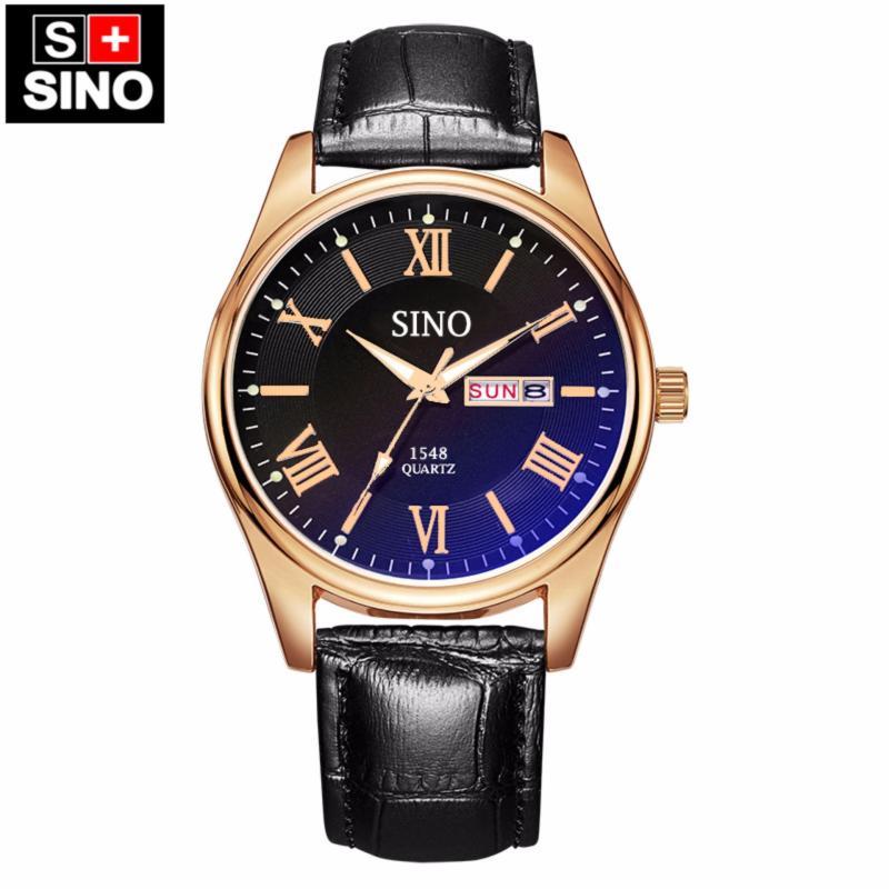 Nơi bán Đồng hồ nam dây da cao cấp Sino Japan Movt rose gold S1548