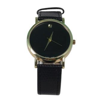 Đồng hồ nam dây da Geneva GV005 (Đen)