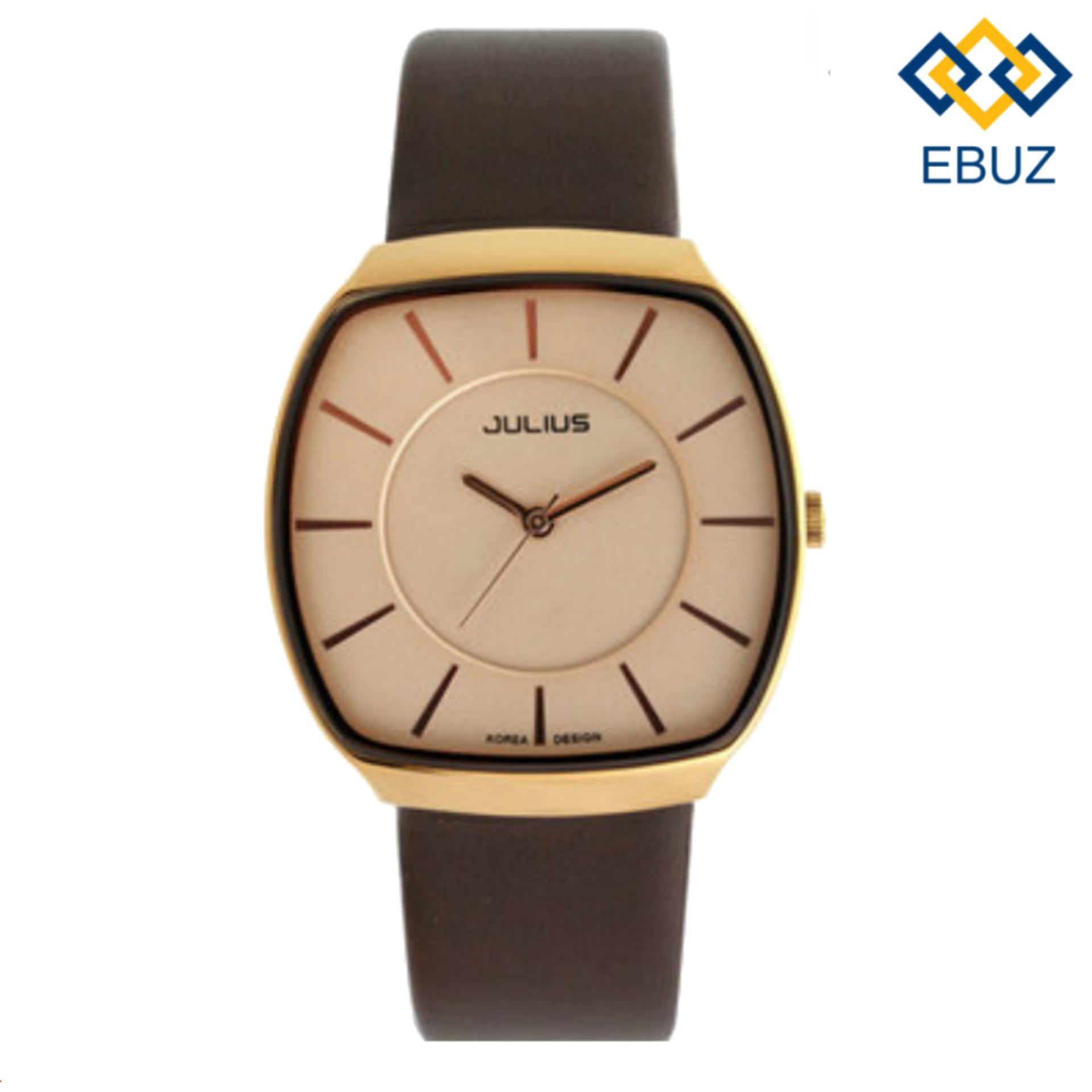 Đồng hồ nam dây da JULIUS JA669 (Nâu) + Tặng đồng hồ nam dây da EBUZ