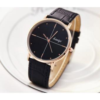 Đồng hồ Nam dây da (Mặt đen)