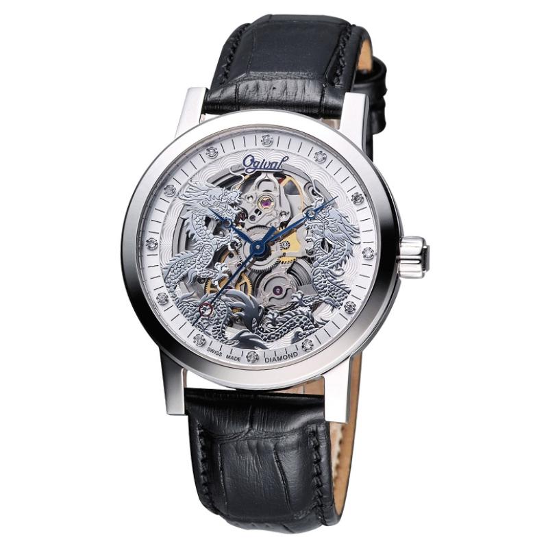 Nơi bán Đồng hồ nam dây da Ogival OG38863AGS-GL (Đen).