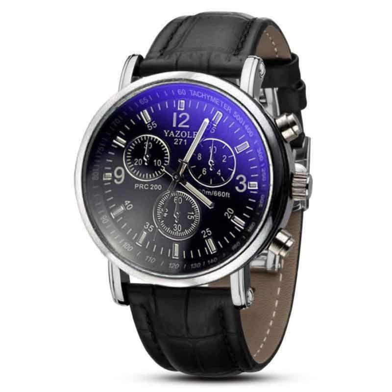 Nơi bán Đồng hồ nam dây da SK9070 mặt đen quai đen