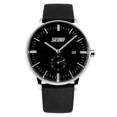 Đồng hồ nam dây da Skmei 9083 (Đen)