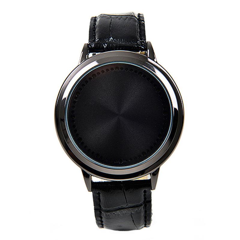Nơi bán Đồng hồ nam dây da tổng hợp LED LED001-1 (Đen mặt đen)