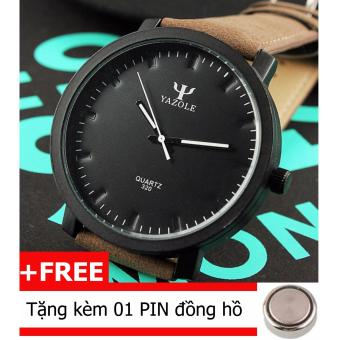 Đồng hồ nam dây da Yazole 1001