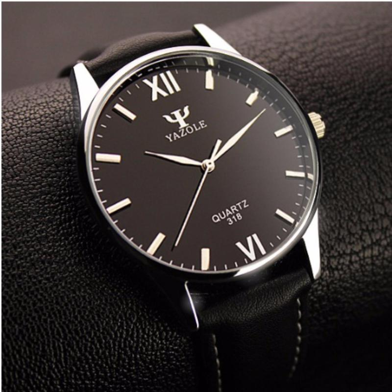 Nơi bán Đồng hồ nam dây da Yazole 318 (Nâu)