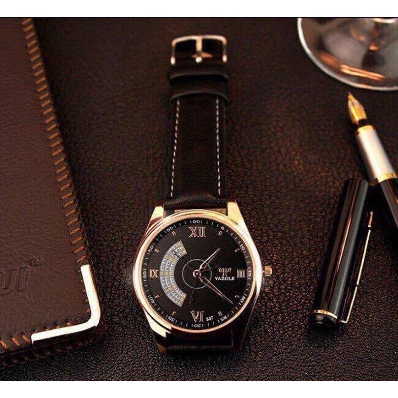 Nơi bán Đồng hồ nam dây da Yazole T379 NK226 (Nâu)