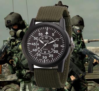 Đồng hồ nam dây dù lính SINO JAPAN MOVT SN9119 (Xanh rêu) - 2