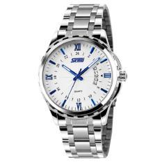 Đồng hồ nam dây hợp kim chống gỉ Skmei MLSK032(Trắng xanh)